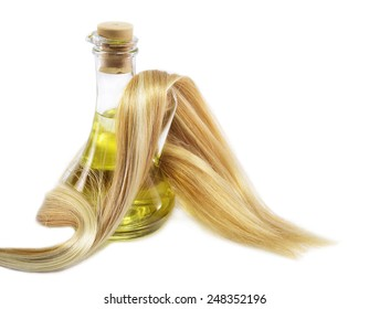 Hair and oil bottle