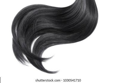 Hair on white