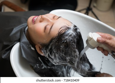 hair salon concept. Shampoo station.