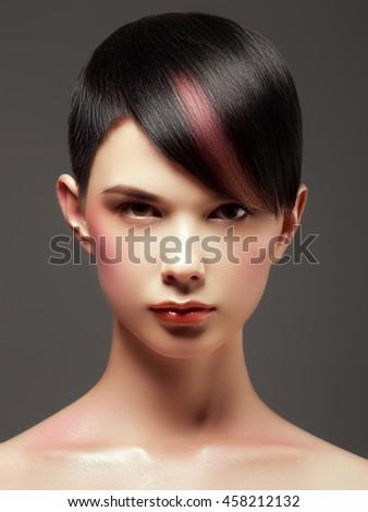 Hair Salon Trendy Hair Style Short Stock Photo Edit Now 458212132