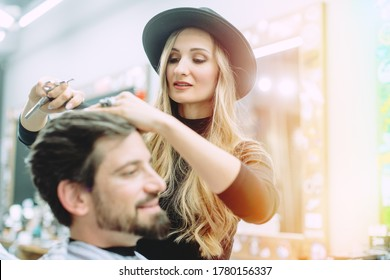 Hair stylist trying to get her client a proper cut