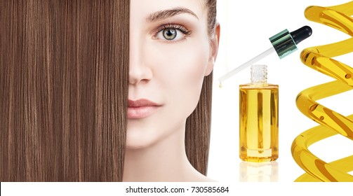 Hair treatment by oil therapy in spiral.