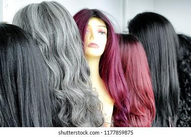Hair Wigs display
