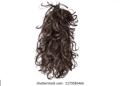Hair or woman's hair on white bottom