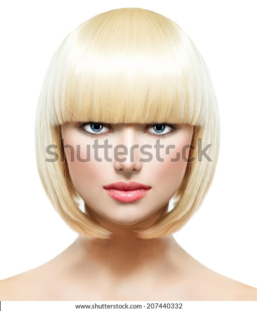 Haircut Hairstyle Fringe Fashion Stylish Beauty Stock Photo Edit Now 207440332