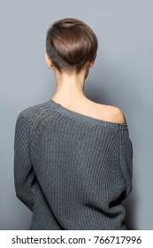 Short Haircut Back Images Stock Photos Vectors Shutterstock