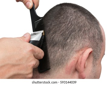 Haircut man's head