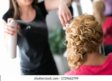 Haircut master piece and a spray