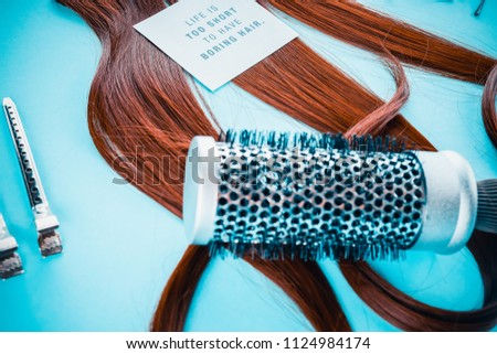 Hairdresser Accessories Coloring Hair Stock Photo (Edit Now ...