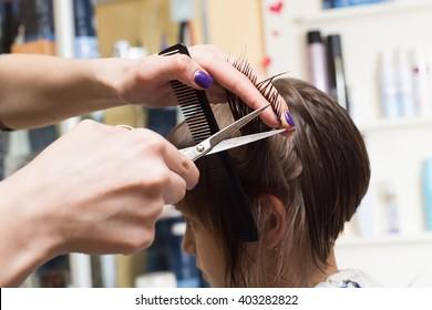 hairdresser shears girl