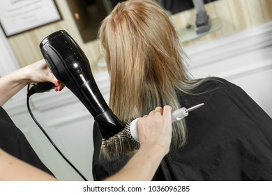 hairdressing services. and hair drying process.