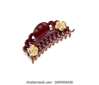 Hairpin. fashionable hair accessories pearl barrette. on a white background.