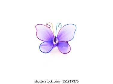 Hairpin for hair with Butterfly on white background