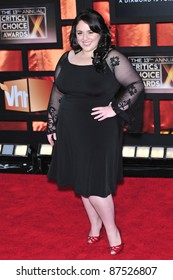 """""""Hairspray"""" star Nikki Blonsky at the 13th Annual Critics' Choice Awards at the Santa Monica Civic Auditorium. January 7, 2008  Los Angeles, CA Picture: Paul Smith / Featureflash"""