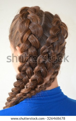 Hairstyle French Braids Stock Photo Edit Now 326468678 Shutterstock