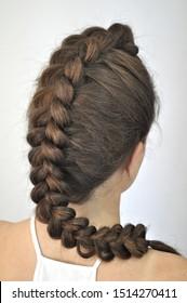 Hairstyle on long hair  braiding braids