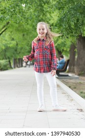 Hairstyles to wear on windy days. Windproof hairstyles. Girl little cute child enjoy walk on windy day nature background. Feeling cozy and comfortable on windy day. Deal with long hair on windy day.