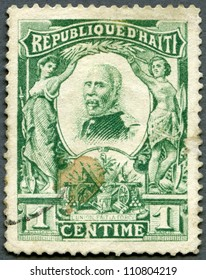 HAITI - CIRCA 1904; A stamp printed in Republic of Haiti shows President Pierre Nord Alexis (1820-1910), circa 1904