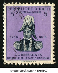 HAITI - CIRCA 1954: Jean Jacques Dessalines was a leader of the Haitian Revolution and the first ruler of an independent Haiti under the 1801 constitution, circa 1954.