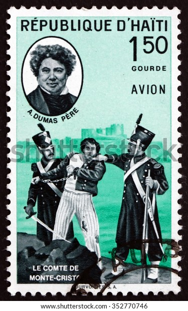 HAITI - CIRCA 1961: a stamp printed in Haiti shows The Count of Monte Christo and General Alexander Dumas Davy de la Pailleterie, General in Revolutionary France, circa 1961