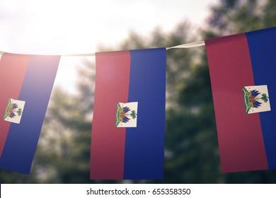 Haiti flag pennants
