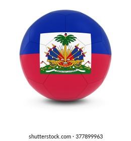 Haiti Football - Haitian Flag on Soccer Ball