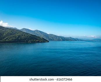 Haiti island view from the sea