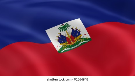 Haitian flag in the wind. Part of a series.