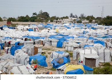 Haitian tent city, from the earthquake