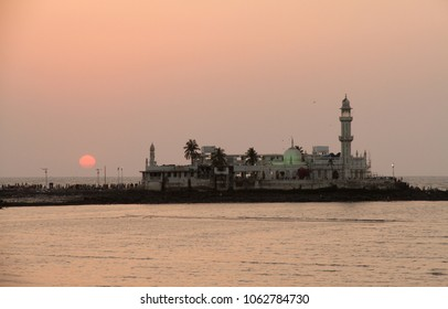 The Haji Ali Dargah in the evening - Top tourist attraction in Mumbai india