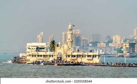 The Haji Ali Dargah, a famous tomb and a mosque in Mumbai, - Maharashtra, India