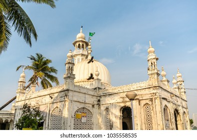 The Haji Ali Dargah, an island mausoleum and pilgrimage site in Mumbai, - Maharashtra, India