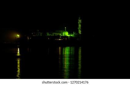 Haji Ali Dargah of mumbai at night