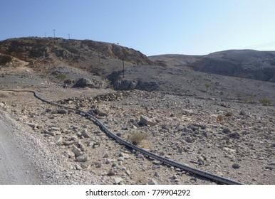 Hajjar mountains neat Khatt village. Ras al-Khaimah region. UAE
