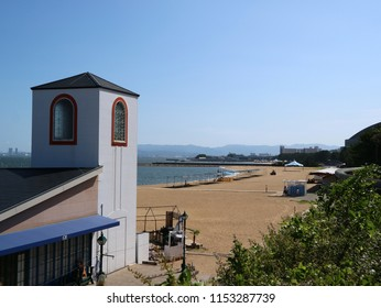 Hakata, Fukuoka, Japan - August 8 2018 : Seaside Momochi. Fukuoka's modern waterfront located on reclaimed land along Hakata Bay.