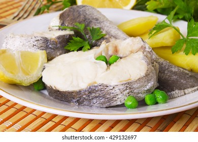 hake with potatoes and peas