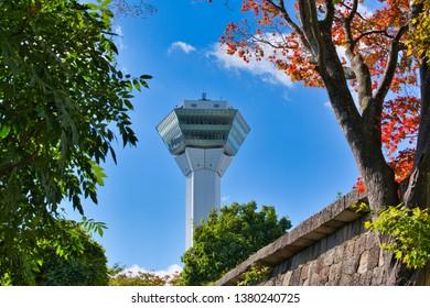 Hakodate 17 October 2017: Goryokaku Tower in Hakodate, Japan.