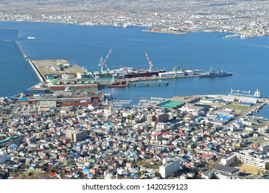 Hakodate bay in Japan from Top view