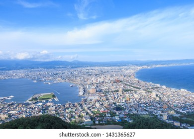 Hakodate city view from top of Hakodate mountain