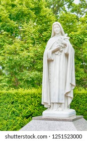 Hakodate, Japan - Jul 19 2017- Statue of Saint Therese of Lisieux at Trappistine Convent in Hakodate City, Hokkaido, Japan.