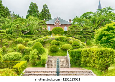 Hakodate, Japan - Jul 19 2017- Trappistine Convent in Hakodate City, Hokkaido, Japan. The Lady of the Angels Convent, was founded in 1898 by eight nuns from the convent in Ubexy, France.
