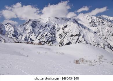 Hakuba back country skiing, Nagano, Japan