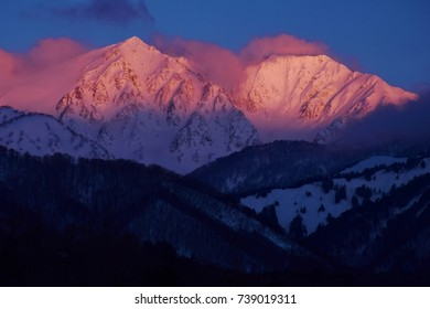 Hakuba mountains  ~  morning glow
