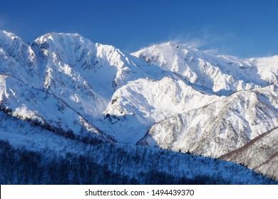 Hakuba mountains in Nagana, Japan