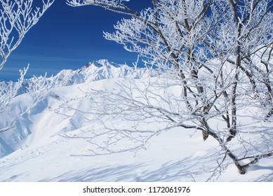 Hakuba snow mountains in Nagano, Japan