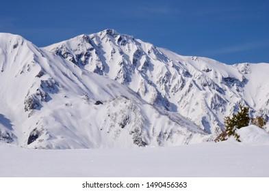 Hakuba valley snow mountains, Nagano, Japan