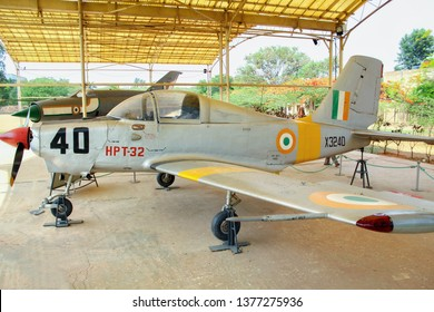 HAL OLD AIRPORT marthhalli bangalore, Karnataka, India - Sunday, 21 apil 2019, 07:53Am - The HAL HPT-32 Deepak is an prop-driven primary trainer manufacturered by Hindustan Aeronautics Limited.