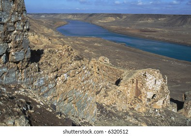 Halabiye ruins on Euphrates River in north eastern Syria