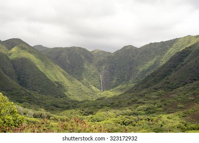Halawa Valley Falls, Molokai, Hawaii