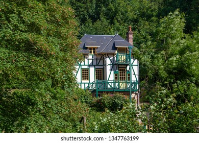 Halb timbered house in Normandy, France